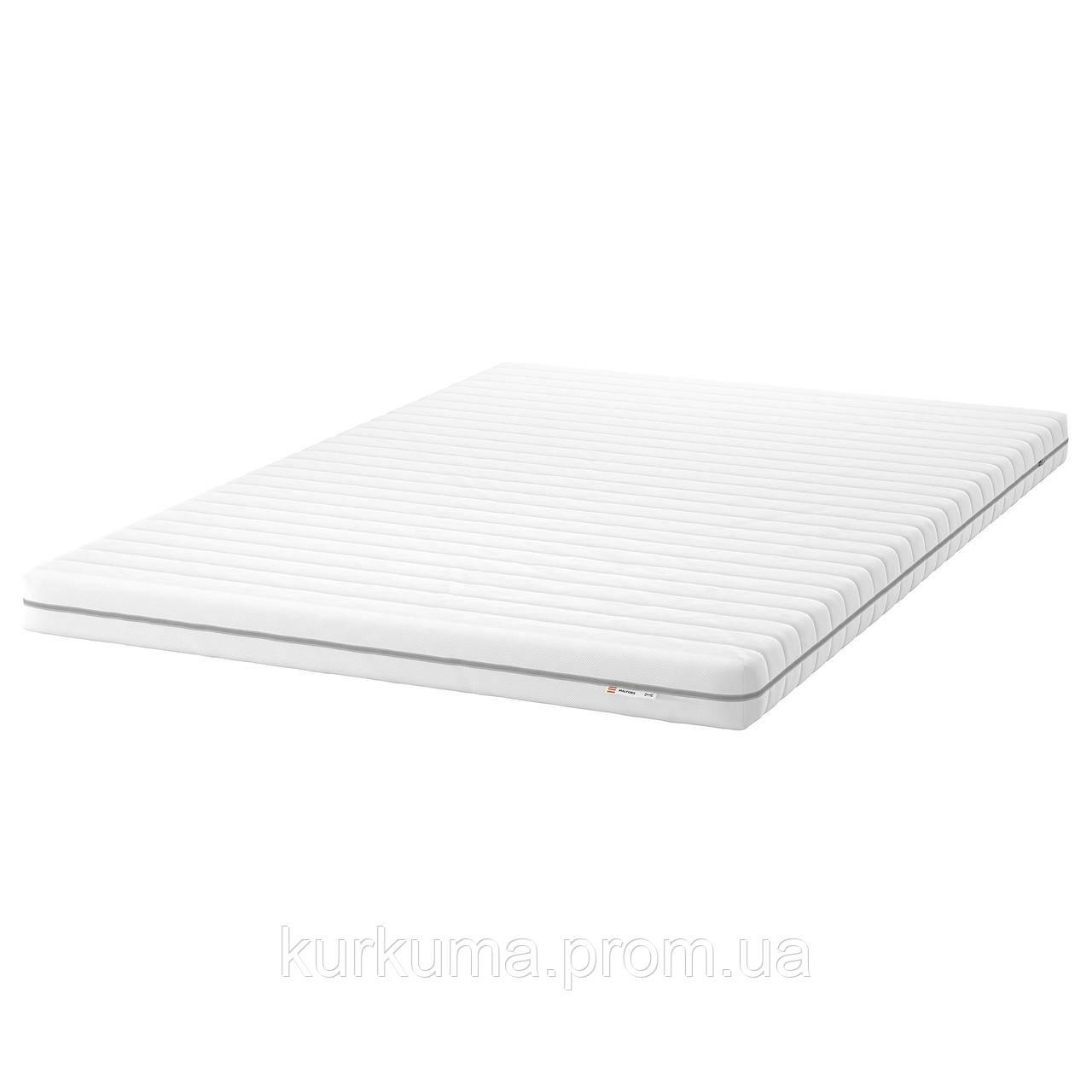 IKEA MALFORS Пенополиуретановый матрас, твердый/белый, 140х200 см (502.723.00)