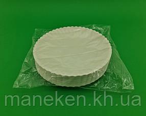 Тарілка паперова біла D-25.5 см (50)*1 (50 шт)