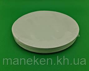 Тарілка паперова біла D-15.5 см (100)*2 (50 шт)