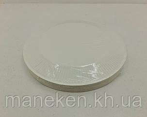Тарелка бумажная белая D-15.5 см (100)*2 (100 шт), фото 2