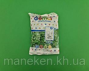 """Повітряні кульки пастель зелені 3"""" (8 см) латексні бомбочки 100 шт Gemar (1 пач.), фото 2"""