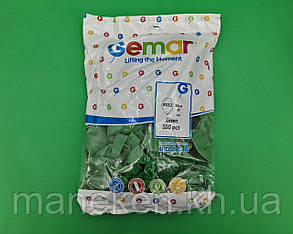 """Повітряні кульки пастель зелені 12"""" (30 см) 100 шт Gemar (1 пач.), фото 2"""