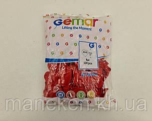 """Воздушные шары сердце 10"""" (25 см) красное пастель 100 шт (1 пач), фото 2"""