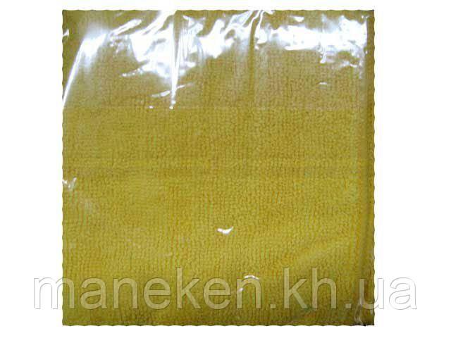 Cалфетка из Микрофибры 30*30 Желтая  (1 шт)