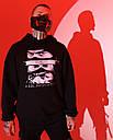 Худи мужской черный от бренда ТУР модель Самурай, фото 3