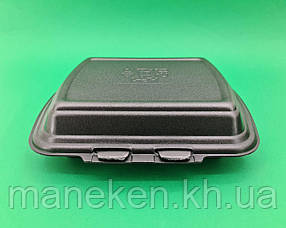 Ланч бокс полипропиленовый черный T-1   227 х 178 х 40 мм (50 шт)