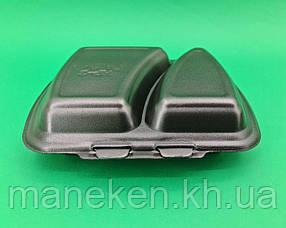 Ланч бокс полипропиленовый черный T-2   227 х 178 х 40 мм (50 шт)