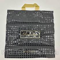 Пакет з петлевий ручкою 40*40 Горох чорний (25 шт), фото 3