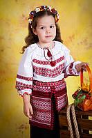 Вышитый костюм для девочки, размер 38