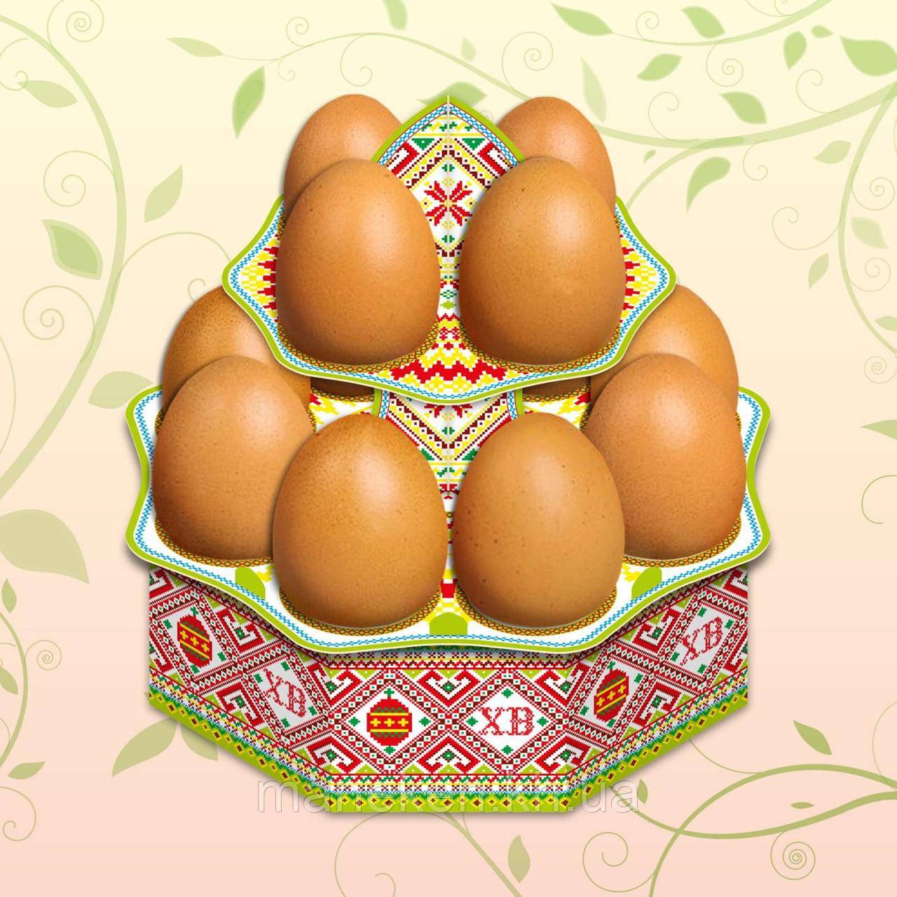 """Декоративна підставка для яєць №12.1 """"Традиційна"""" (12 яєць) висока (1 шт)"""