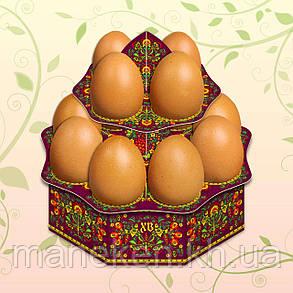 """Декоративна підставка для яєць №12.1 """"Хохлома"""" (12 яєць) висока (1 шт), фото 2"""