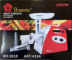 Мясорубка Domotec MS 2019 RED 2400W + соковыжималка