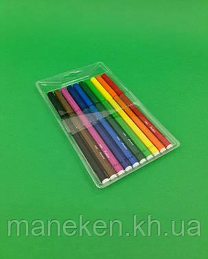 Фломастеры разноцветные   тм Марко  (10цветов ) (1 пач), фото 2