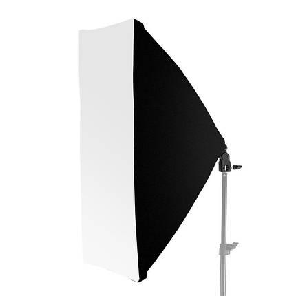 Софтбокс для фотозйомки зі штативом 2 м, цоколь на 4 лампи ( 50x70 см ), фото 2
