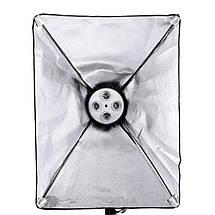 Софтбокс для фотозйомки зі штативом 2 м, цоколь на 4 лампи ( 50x70 см ), фото 3