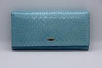 Жіночий шкіряний гаманець Wanlima 31404680013y1 Blue, фото 1