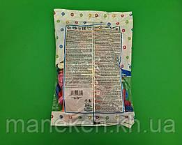 """Надувные шарики в форме сердца пастель ассорти 10"""" (25 см) 100 шт (1 пач), фото 2"""