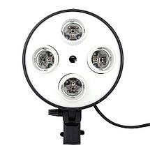 Софтбокс для фотосъемки со штативом 2 м, цоколь на 4 лампы ( 50x70 см ), фото 3