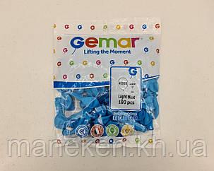 """Воздушные шарики пастель светло голубой 5"""" (13 см) 100 шт Gemar (1 пач), фото 2"""