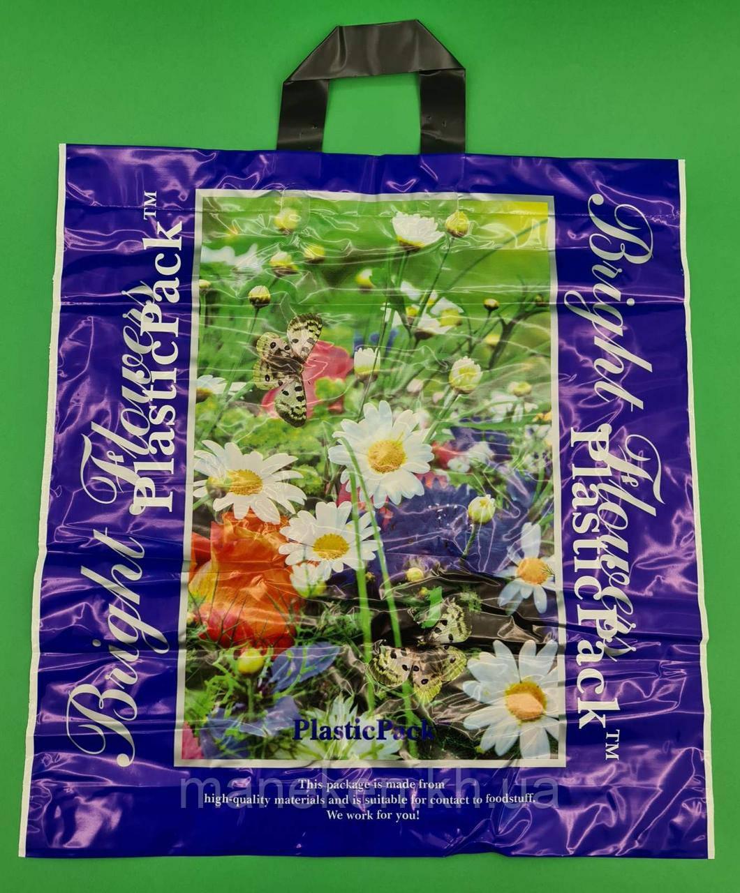 Пакет з петлевий ручкою (47*49) Польові квіти Наксан (25 шт)