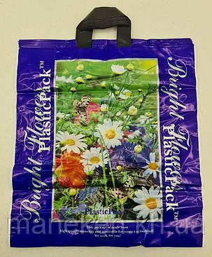Пакет з петлевий ручкою (47*49) Польові квіти Наксан (25 шт), фото 2