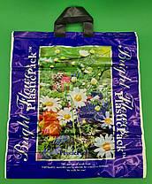 Пакет з петлевий ручкою (47*49) Польові квіти Наксан (25 шт), фото 3