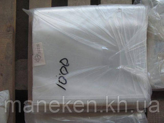 Пакет прозорий поліпропіленовий + скотч 22*25+4\25мк +скотч (1000 шт), фото 2