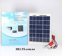 Солнечная батарея для зарядки  5W 12V, панель Solar Panel GD-Light