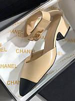 Модные кожаные туфли Шанель (реплика), фото 1