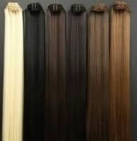 Термо Волосы на заколках клипсах В НАЛИЧИИ,накладные пряди,наборы