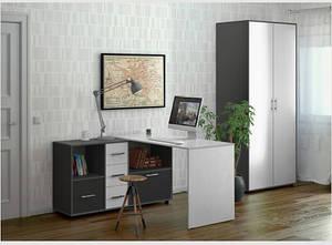 Угловой письменный стол СТ-10 от Киевский Стандарт (13 вариантов цветов)