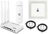 Комплект 4G Netis MW5230 + модем Huawei E3372h-320 + 3G/4G LTE антена R-Net MIMO 2x17 Дб