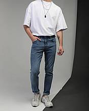 Джинсы мужские зауженные синие от бренда Тур модель Слим
