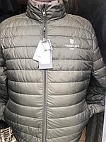 Куртка мужская хаки стеганная короткая демисезонная БОЛЬШИХ РАЗМЕРОВ фирмы TIGER FORSE