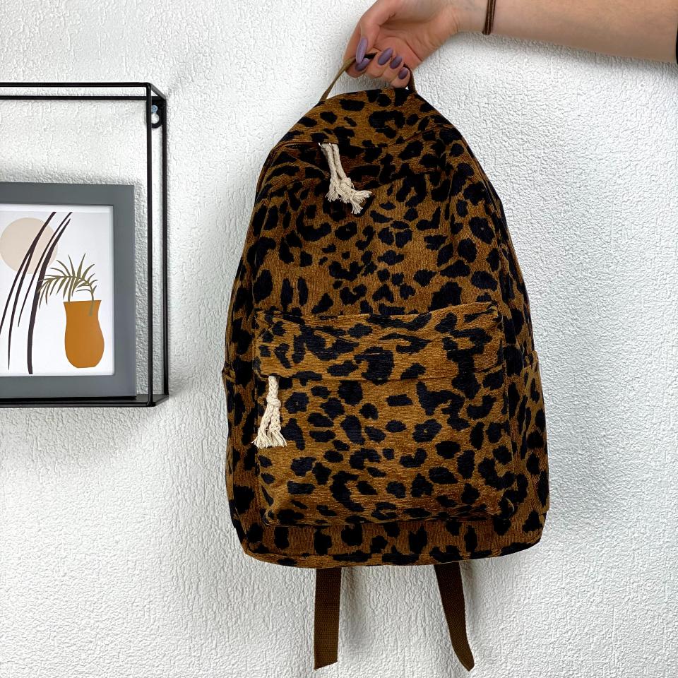 Рюкзак леопардовый принт
