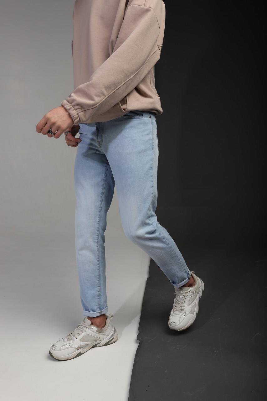 Джинсы мужские зауженные голубые от бренда Тур модель Модерн TУRWEAR