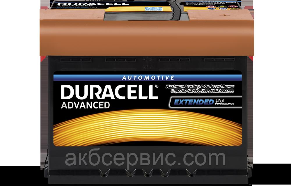 Аккумулятор автомобильный Duracell UK027 Advanced (DA62H)