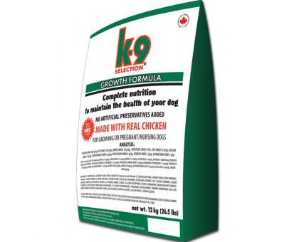 К9 Селекшен Гроус Selection Growth сухой корм для щенков всех пород, 12 кг