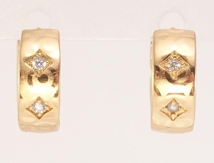 """Сережки XP Позолота 18К колечка """"Різьблений орнамент"""""""