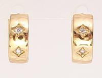 """Сережки XP Позолота 18К колечка """"Різьблений орнамент"""", фото 1"""