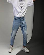 Джинсы мужские голубые от бренда Тур модель Мом