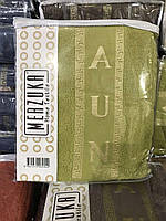 Чоловічий махровий комплект для сауни зелений (оливковий), з тапочками, Туреччина