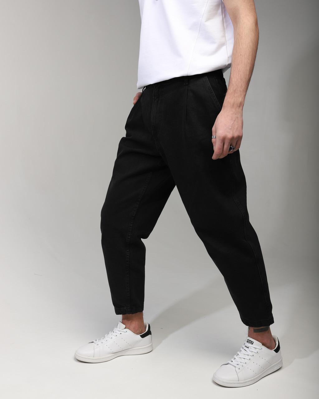 Джинсы мужские черные от бренда Тур модель Бананы TУRWEAR