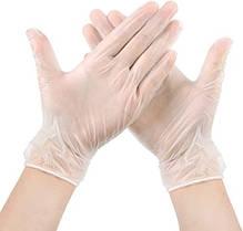 Перчатки одноразовые виниловые 100 шт. Размер М