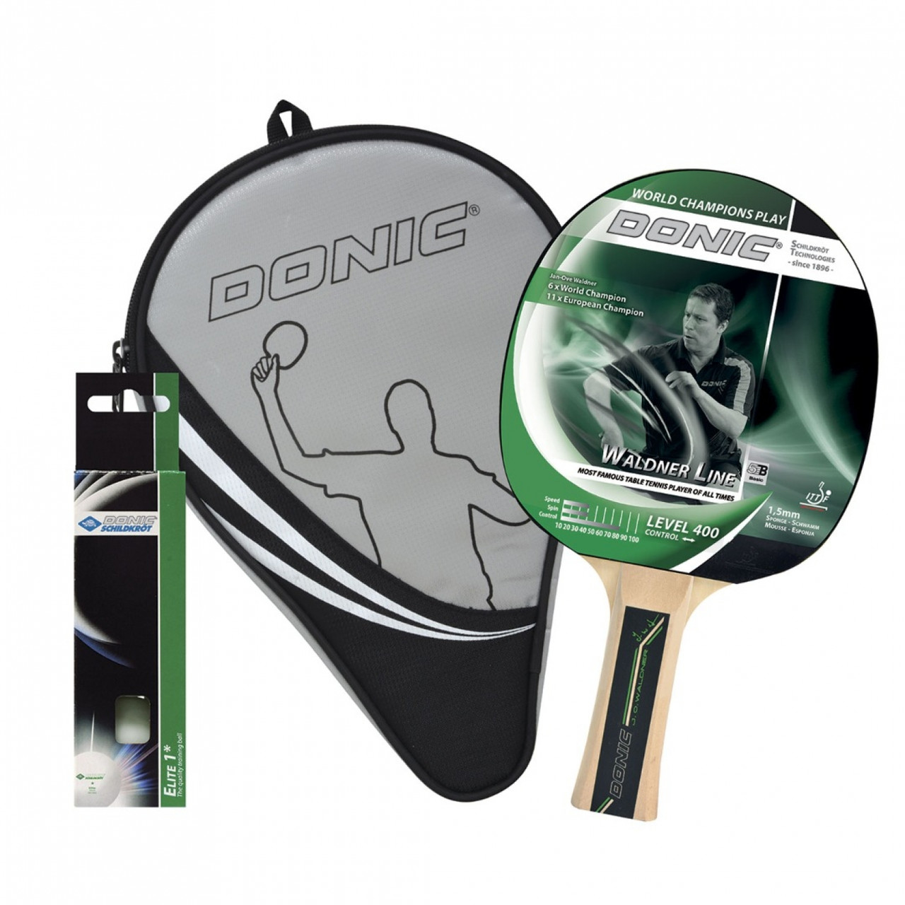Набор для настольного тенниса и пинг-понга Donic Waldner 400 Gift SET для игроков среднего уровня (788484)