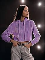 """Худи Женское укороченное  """"Lilac""""  Intruder Brand сиреневый фиолетовый, фото 1"""