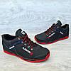 Кроссовки мужские черные прошитые (Кф-19-3), фото 6