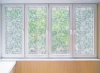 """Декоративная матовая пленка на окна и перегородки """"Кружево"""" Zatarga от соседей, разделитель пространства"""