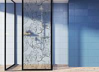 """Декоративная матовая пленка на окна и перегородки """"Магнолия"""" Zatarga от соседей, разделитель пространства"""