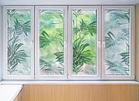 """Декоративная матовая пленка на окна и перегородки """"Пальма"""" Zatarga от соседей, разделитель пространства"""